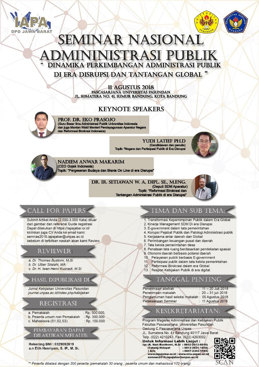 Permalink to:Seminar Nasional Administrasi Publik