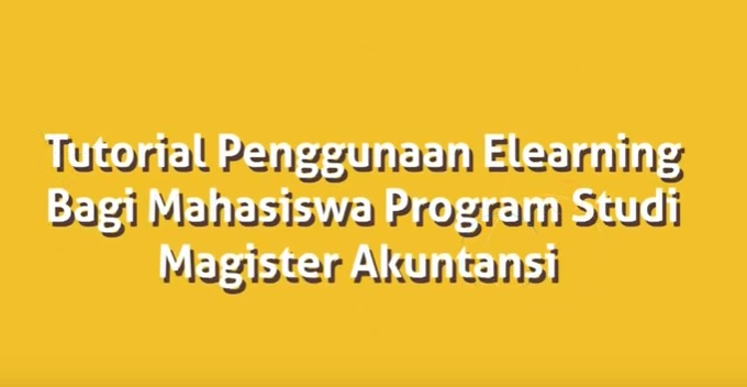 Permalink to:Tutorial E-Learning Magister Ilmu Akuntansi